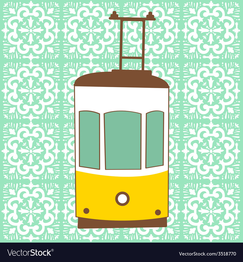 Traditional lisbon tram vector | Price: 1 Credit (USD $1)
