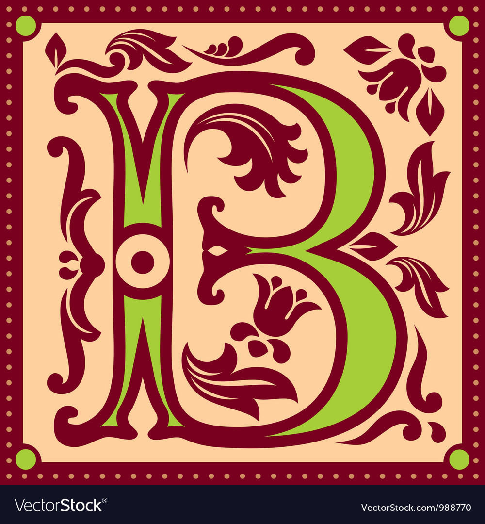 Vintage letter b vector | Price: 1 Credit (USD $1)