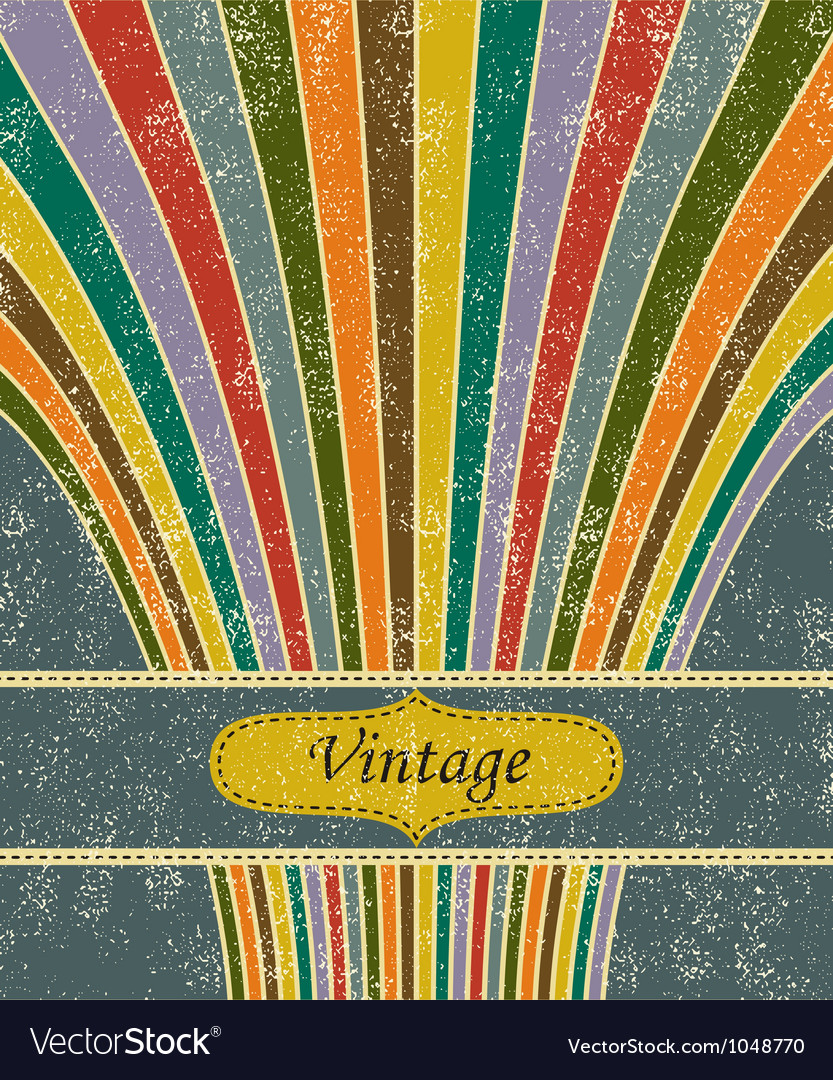 Vintage salute grunge background vector | Price: 1 Credit (USD $1)