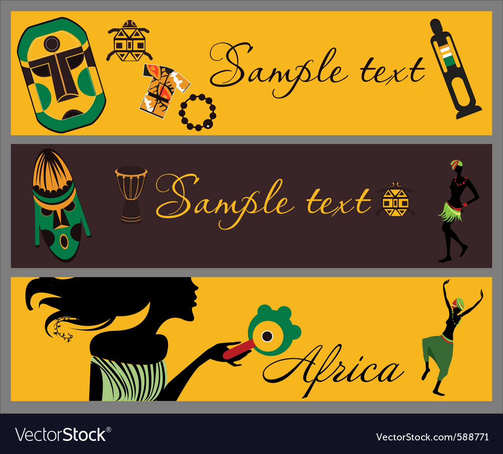 African banners vector | Price: 1 Credit (USD $1)