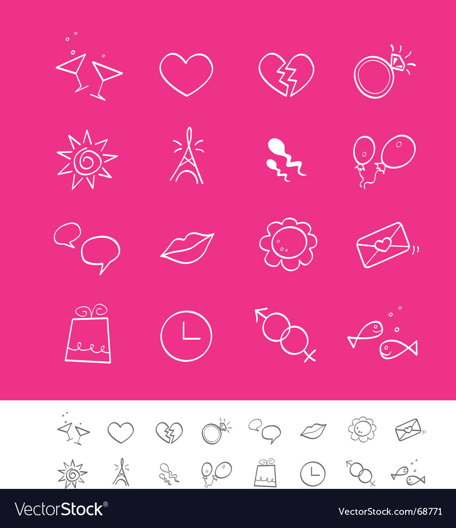 Dating love and social icons vector | Price: 1 Credit (USD $1)