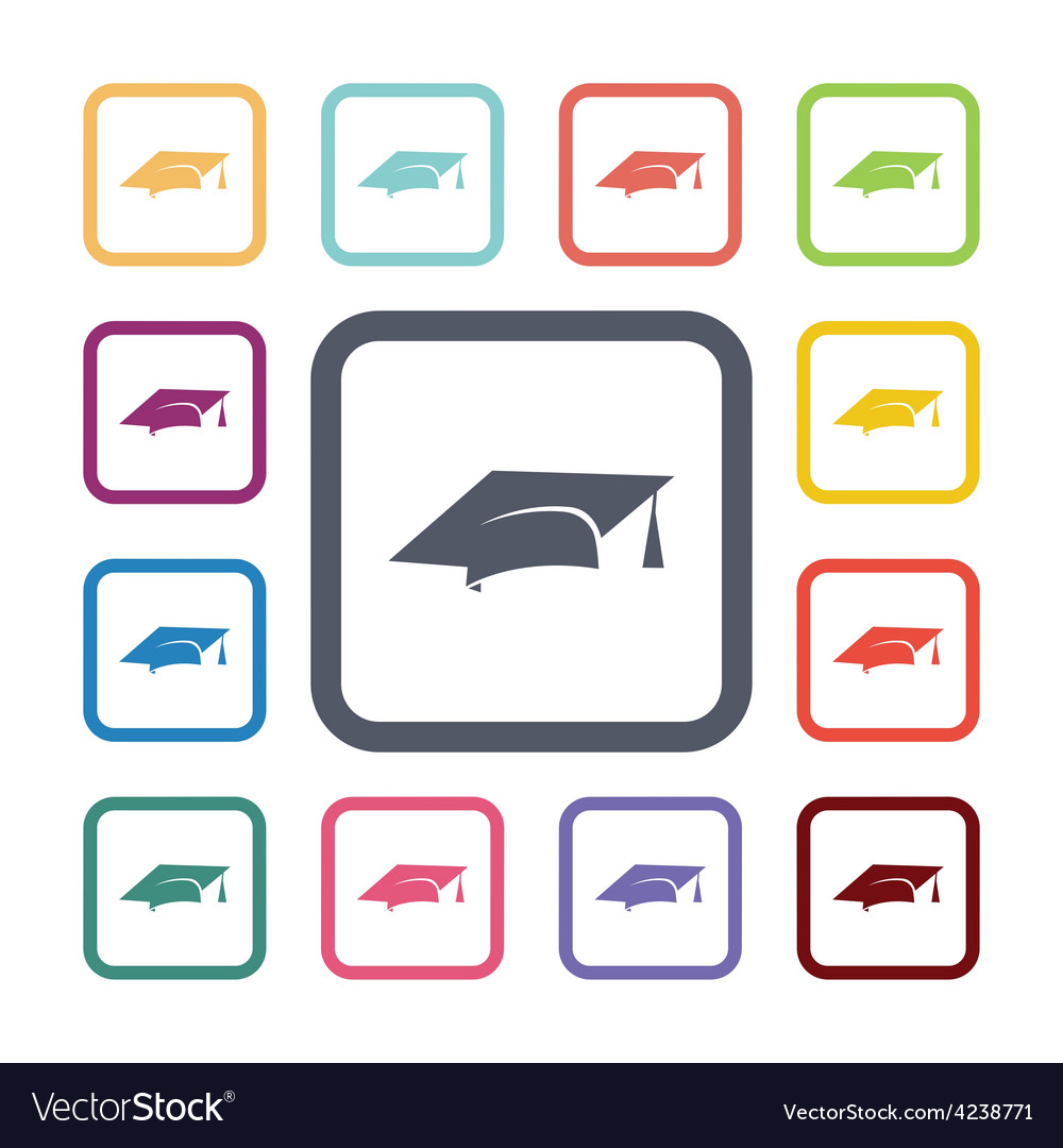 Education flat icons set vector | Price: 1 Credit (USD $1)