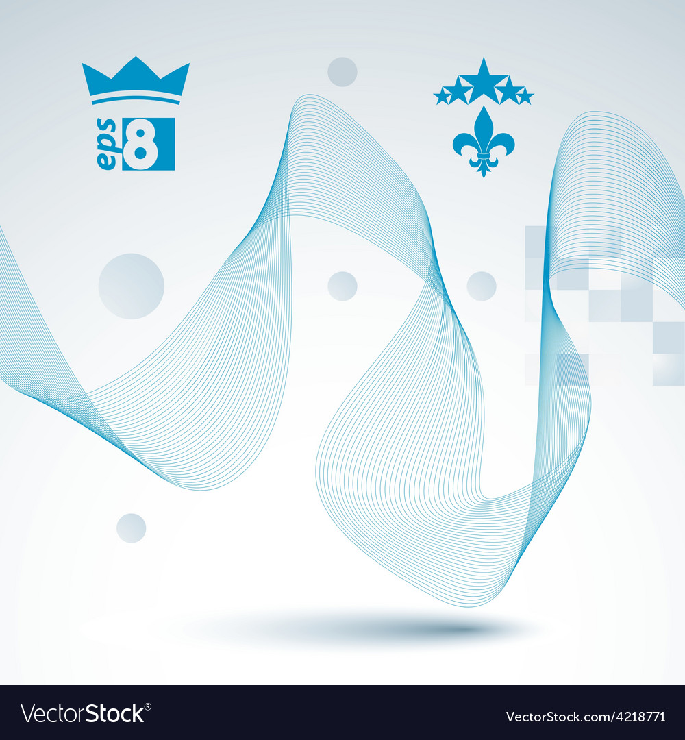 Elegant flowing lines background royal design eps8 vector | Price: 1 Credit (USD $1)