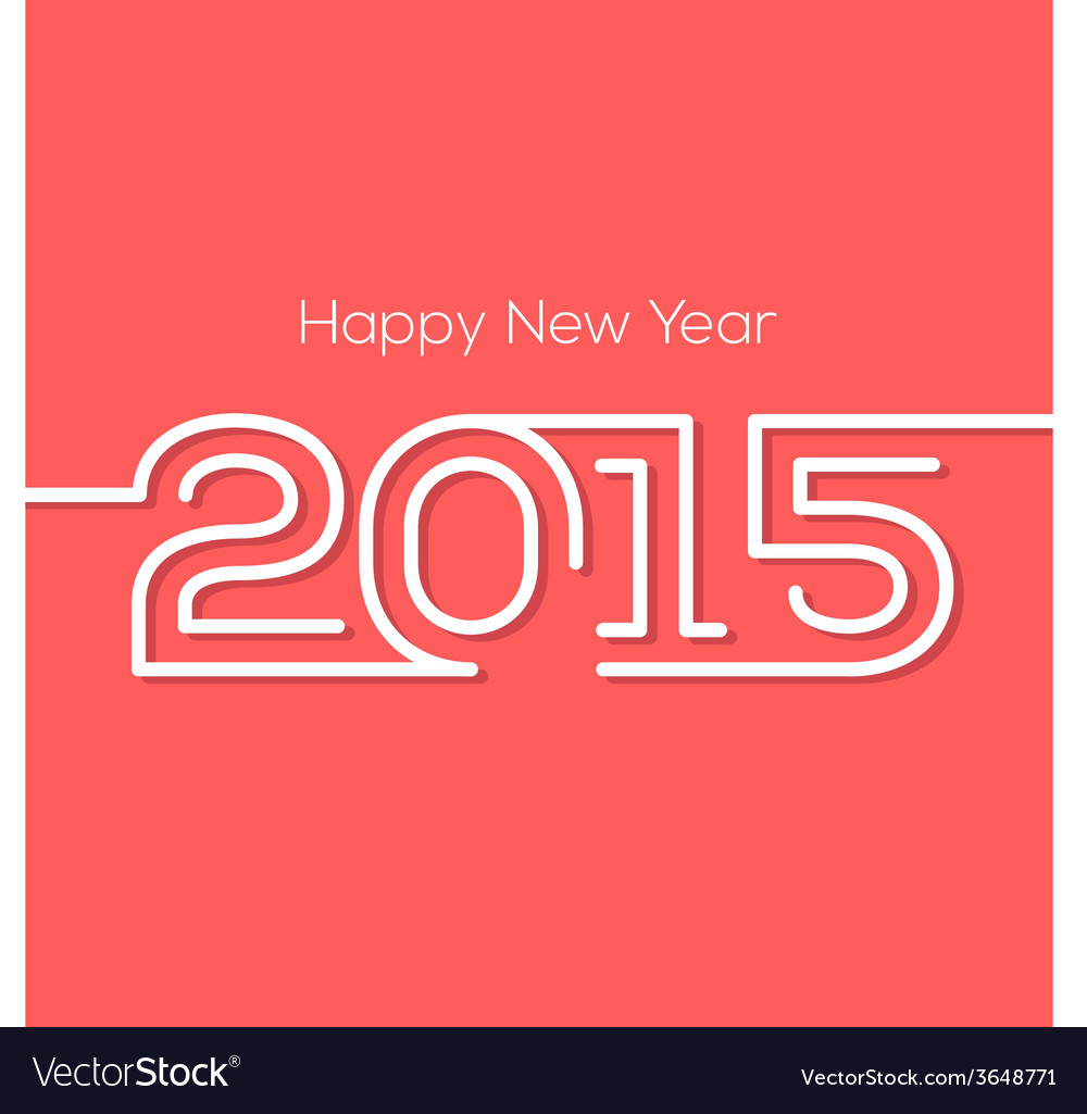 Happy new year 2015 creative greeting card design vector   Price: 1 Credit (USD $1)