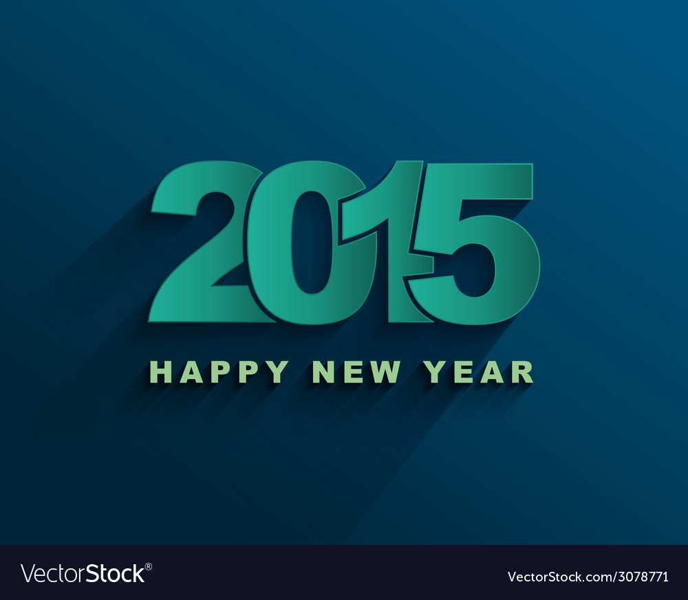 Happy new year 2015 text design vector | Price: 1 Credit (USD $1)