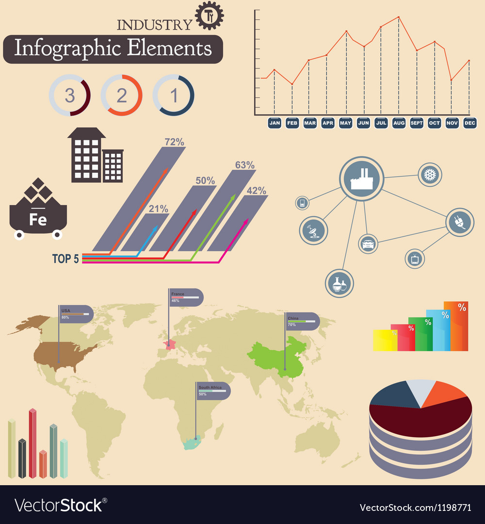 Infographics elements vector | Price: 3 Credit (USD $3)
