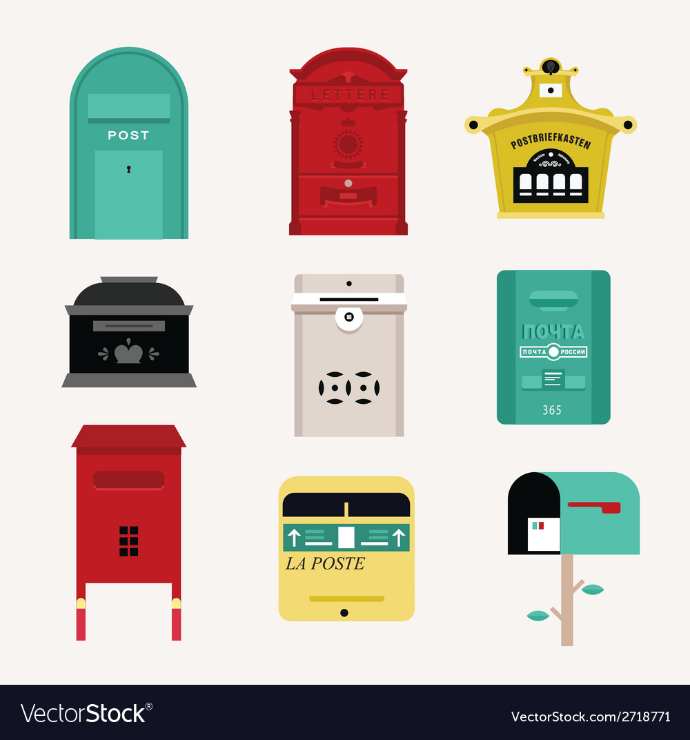 Mail boxes vector | Price: 1 Credit (USD $1)