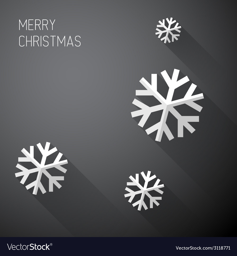 Modern minimalistic christmas card with long vector | Price: 1 Credit (USD $1)