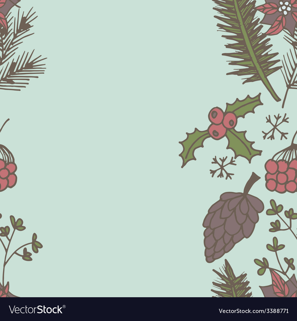 New year seamless border endless christmas vector | Price: 1 Credit (USD $1)