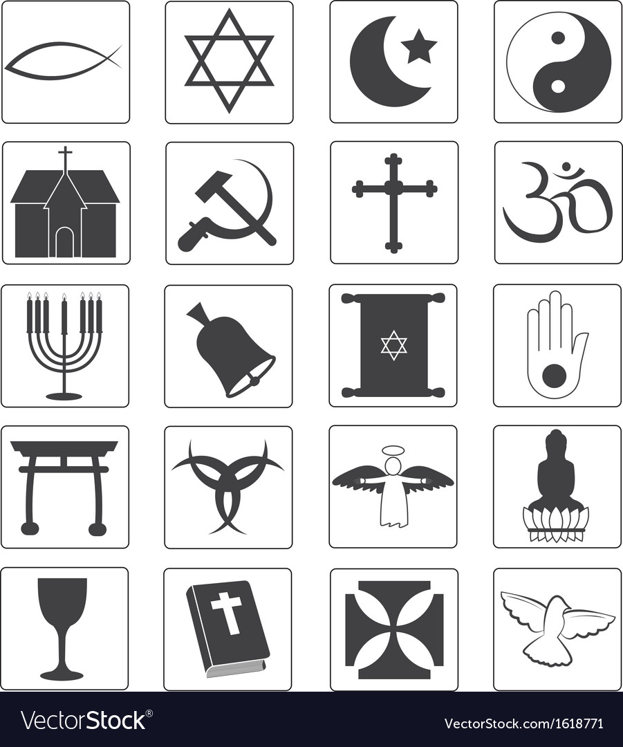 Religious icons collection vector | Price: 1 Credit (USD $1)