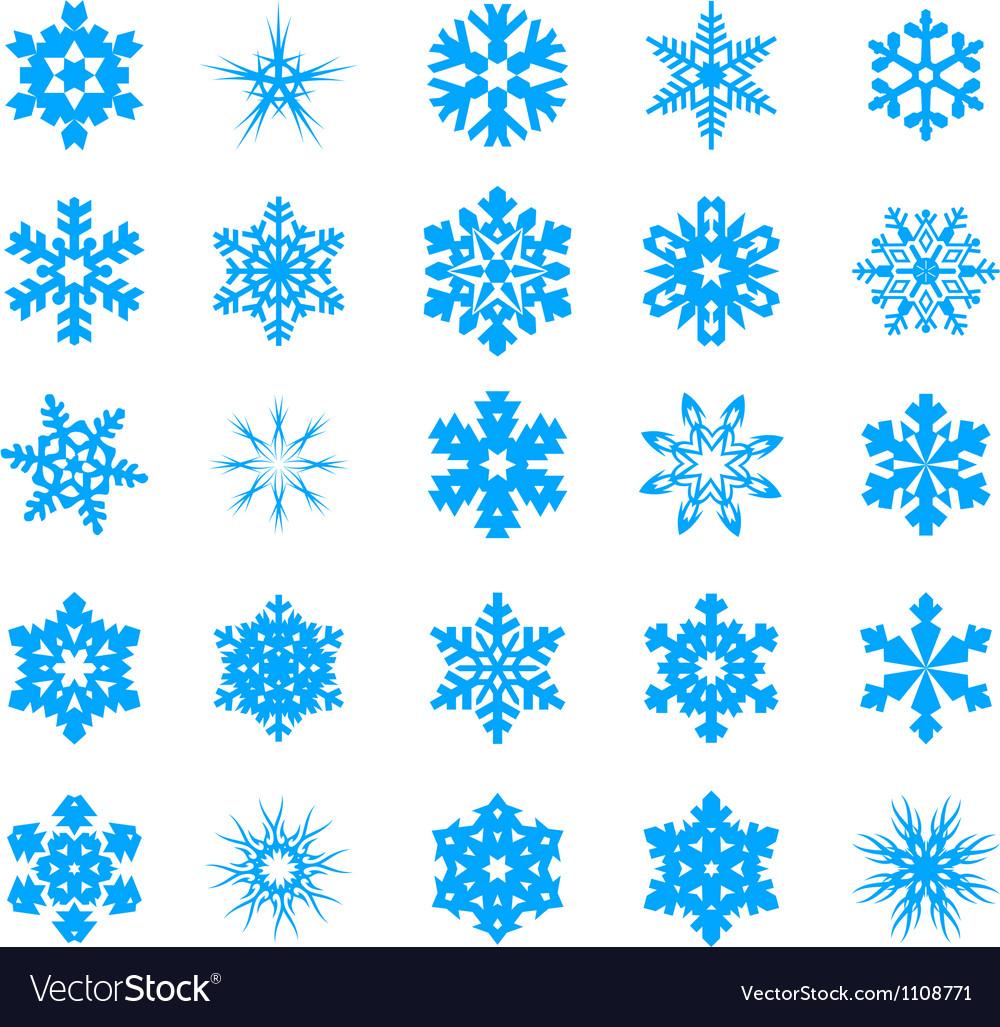 Snow crystal icon sets vector | Price: 1 Credit (USD $1)