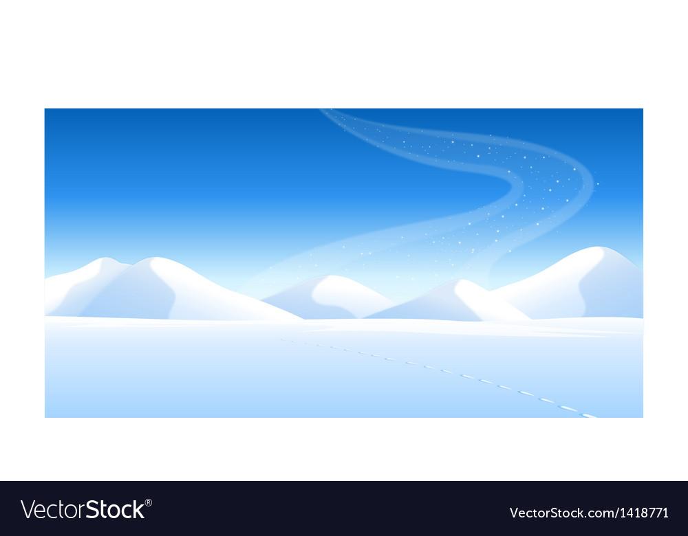 Snowcapped landscape aurora vector | Price: 1 Credit (USD $1)