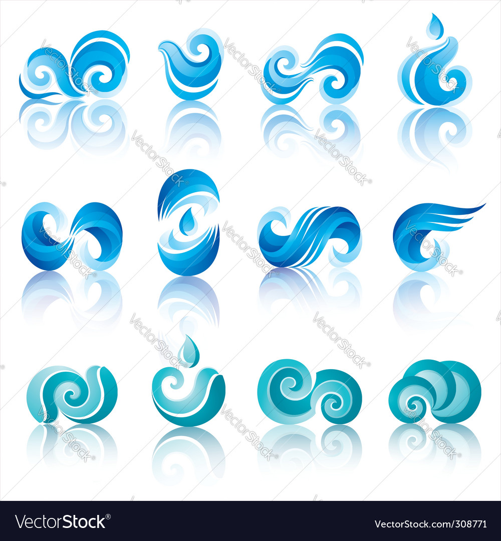 Wave icons vector | Price: 1 Credit (USD $1)