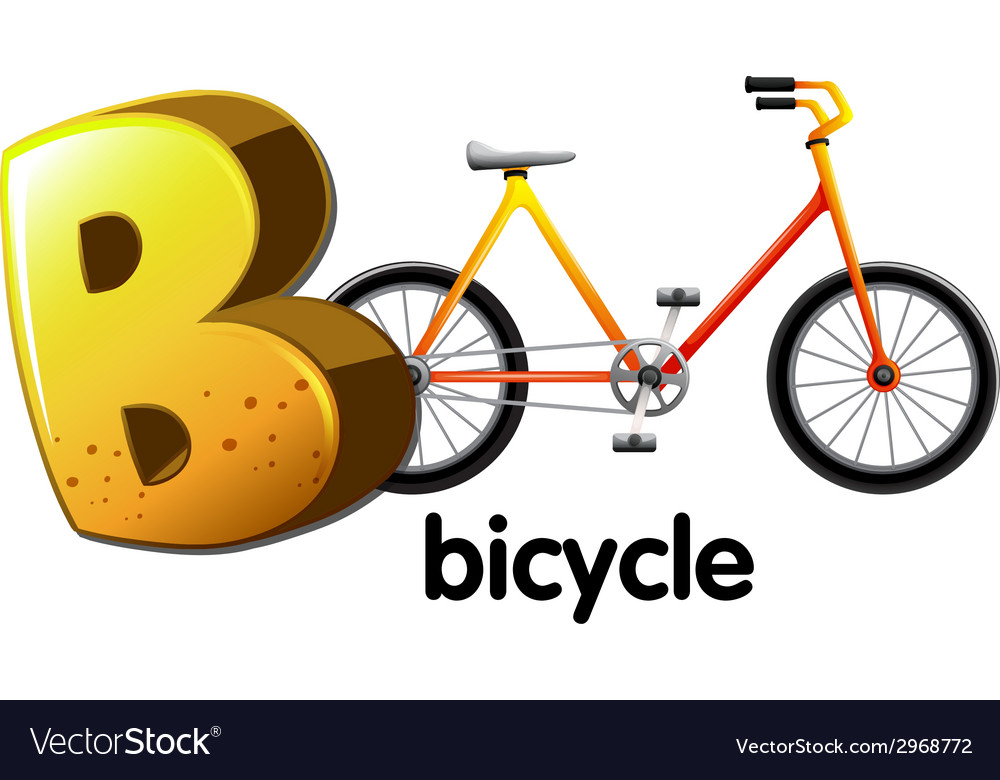 A letter b for bicycle vector | Price: 1 Credit (USD $1)