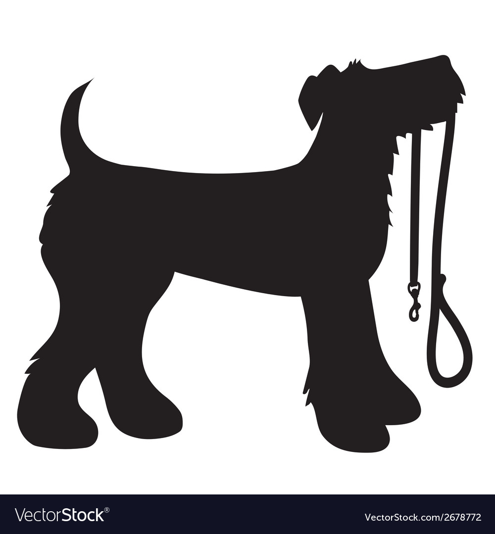 Airedale terrier leash vector | Price: 1 Credit (USD $1)