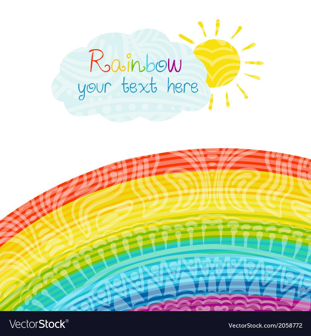 Bright rainbow vector | Price: 1 Credit (USD $1)