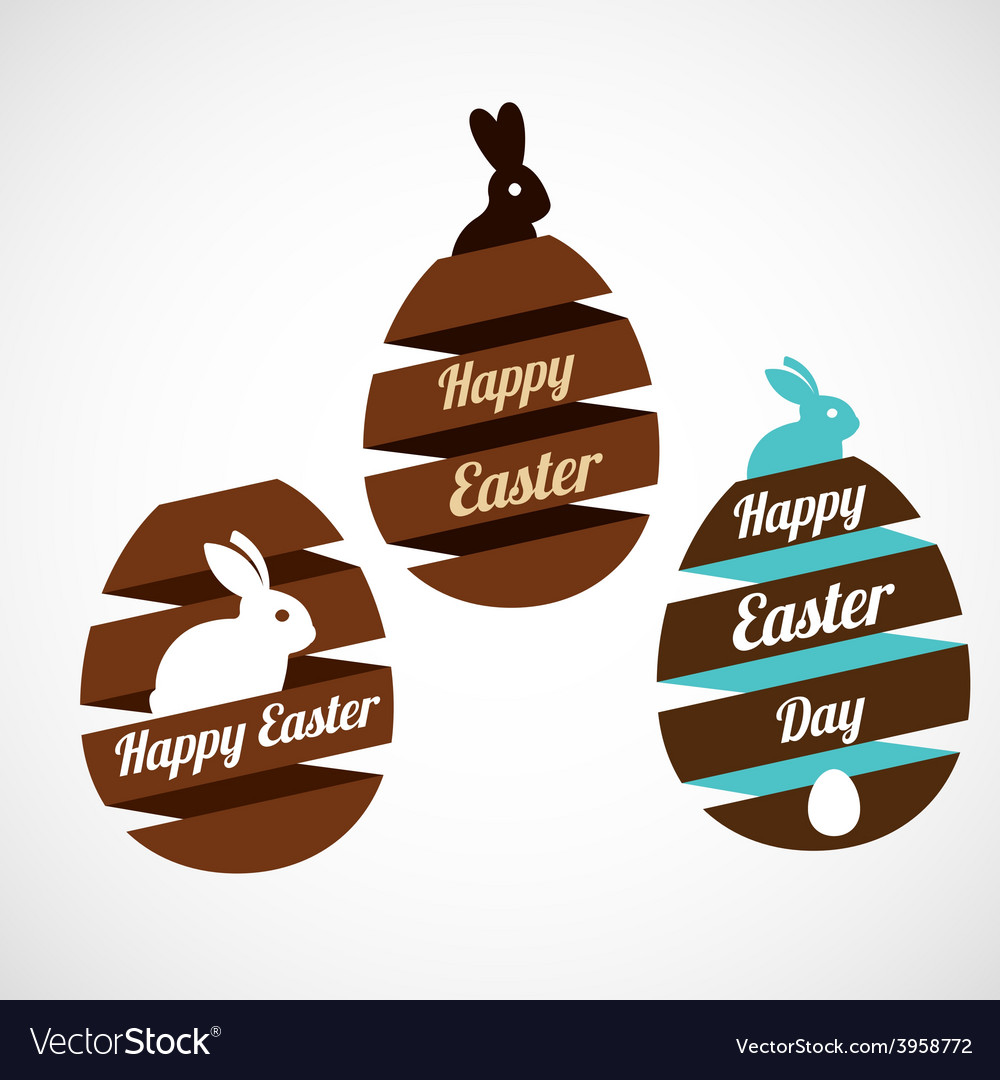 Easter egg ribbons set vector | Price: 1 Credit (USD $1)