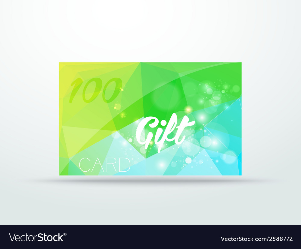 Gift greeting card lime green glitter with shine vector | Price: 1 Credit (USD $1)