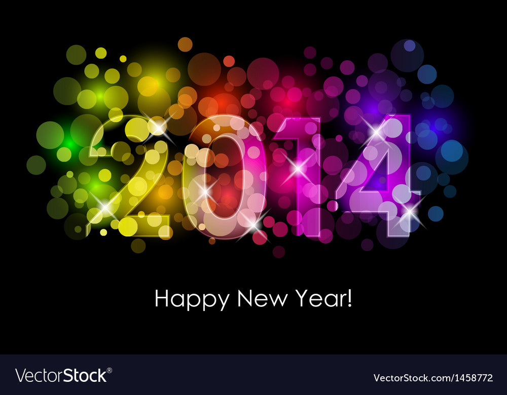 Happy new year - 2014 background vector | Price: 1 Credit (USD $1)