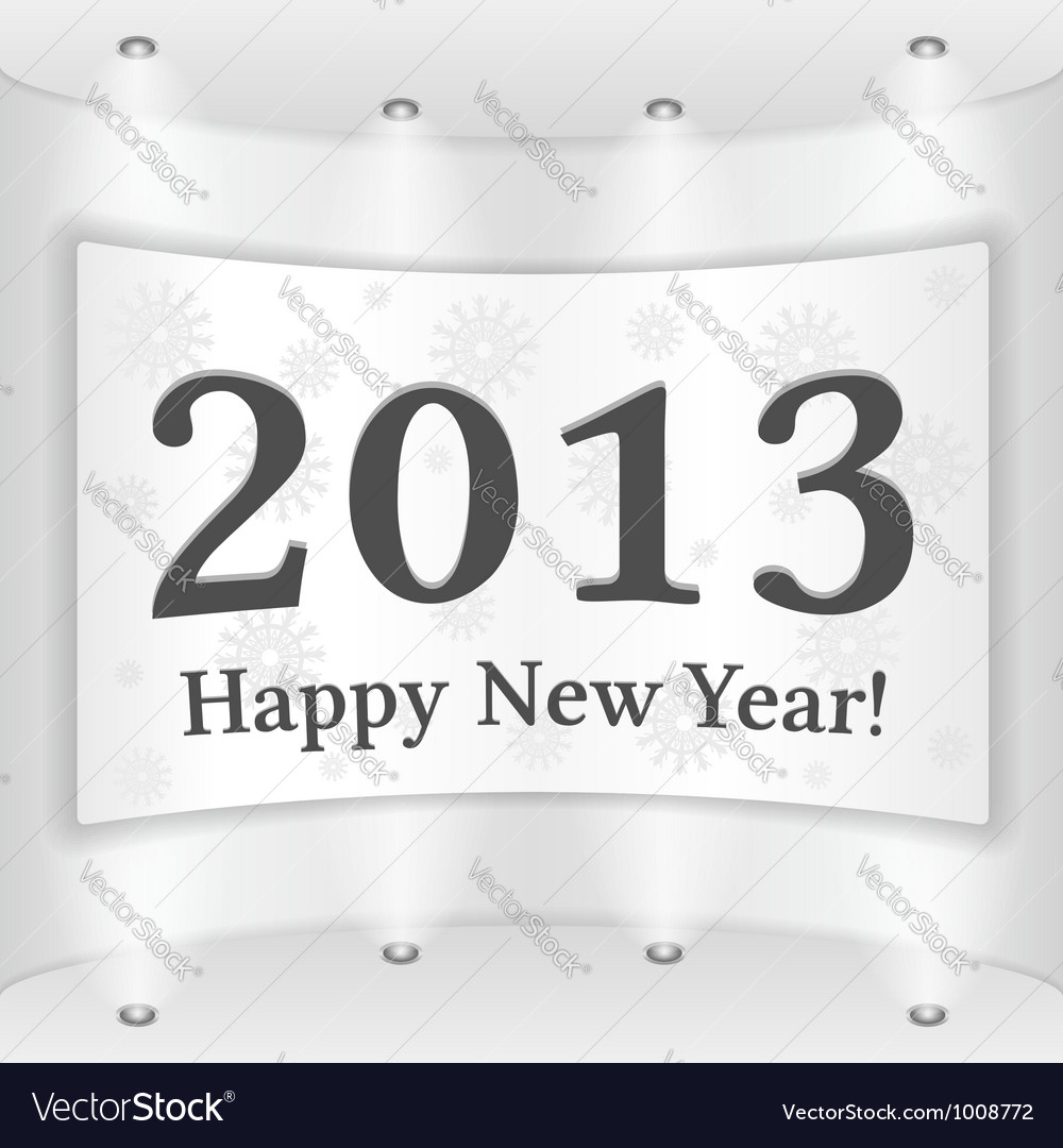 Happy new year banner vector | Price: 3 Credit (USD $3)