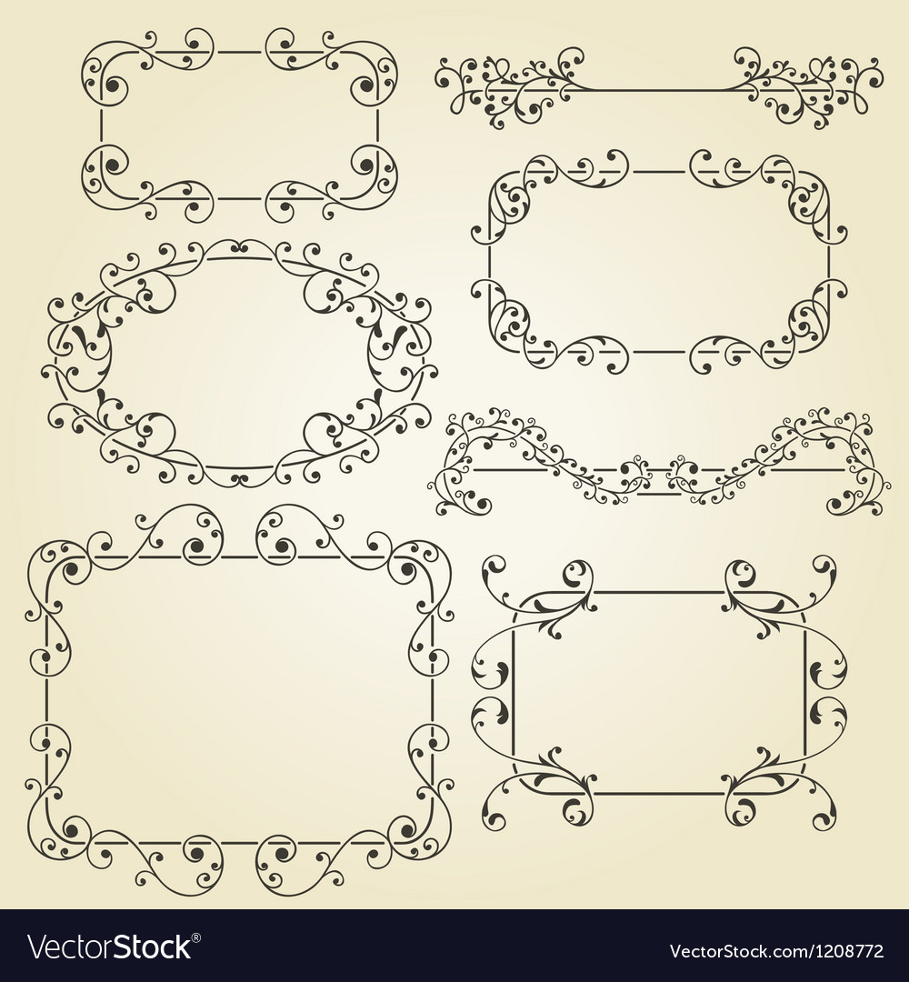 Lacy vintage floral design elements vector | Price: 3 Credit (USD $3)