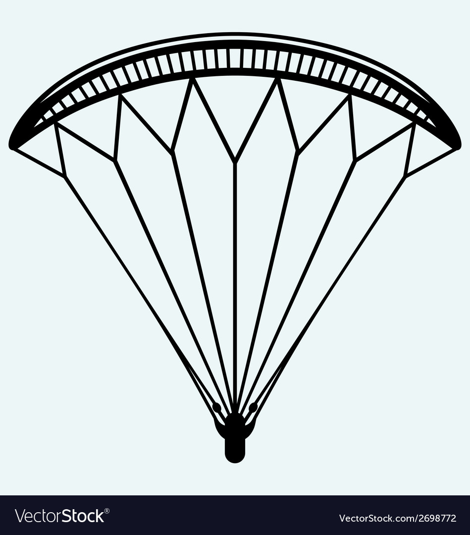 Man jumping with parachute vector | Price: 1 Credit (USD $1)