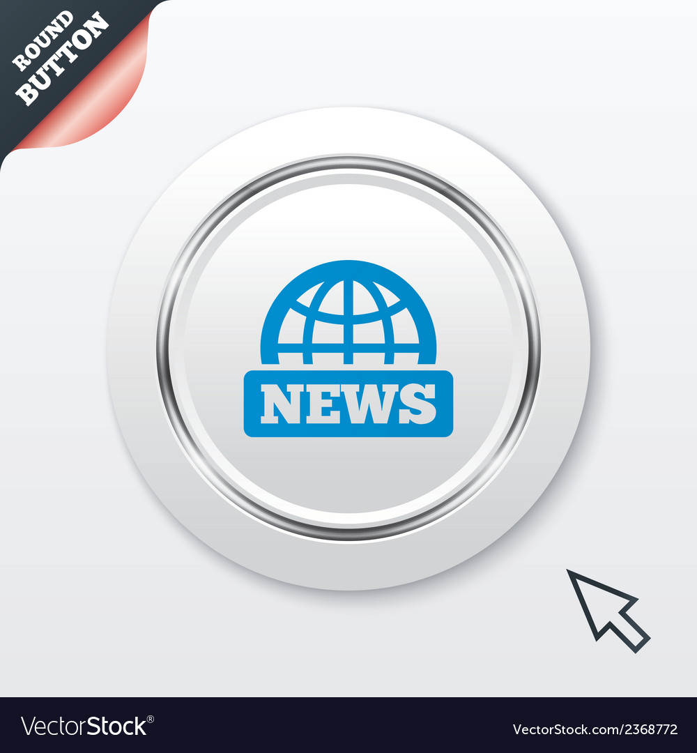 News sign icon world globe symbol vector | Price: 1 Credit (USD $1)