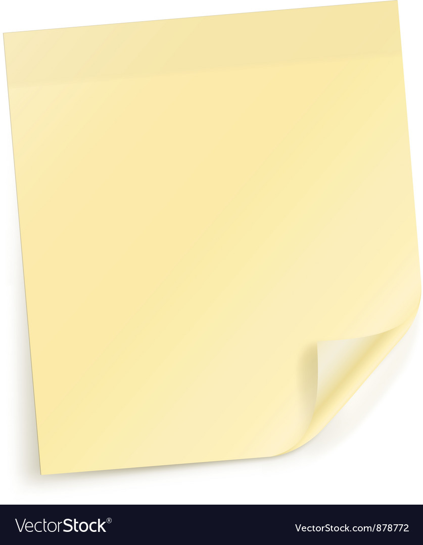 Note sticky sheet vector | Price: 1 Credit (USD $1)
