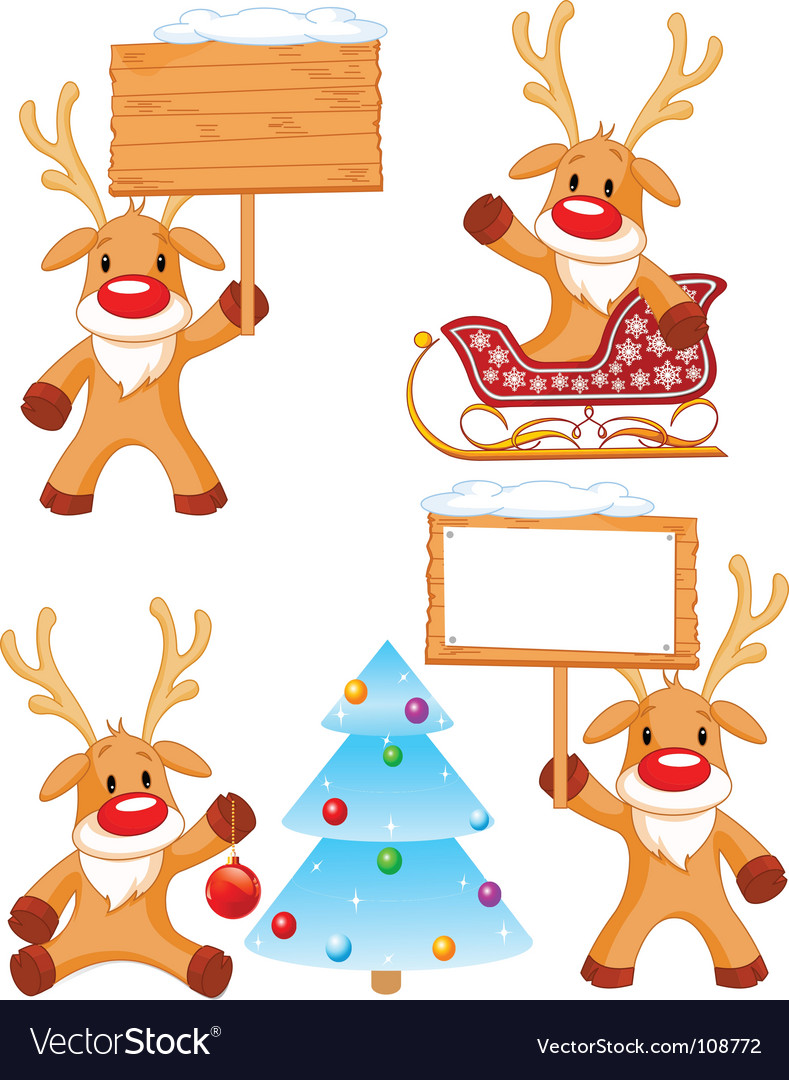 Reindeer rudolph vector | Price: 1 Credit (USD $1)