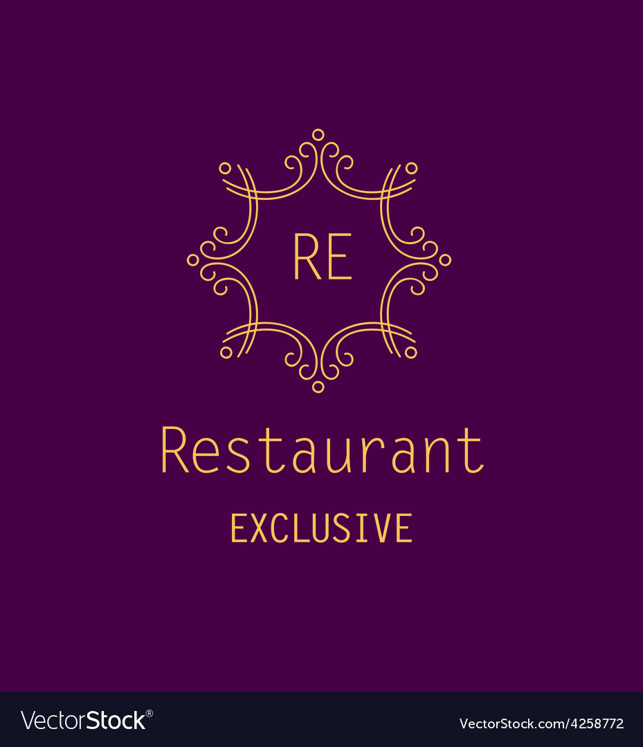 Restaurant logo vector | Price: 1 Credit (USD $1)