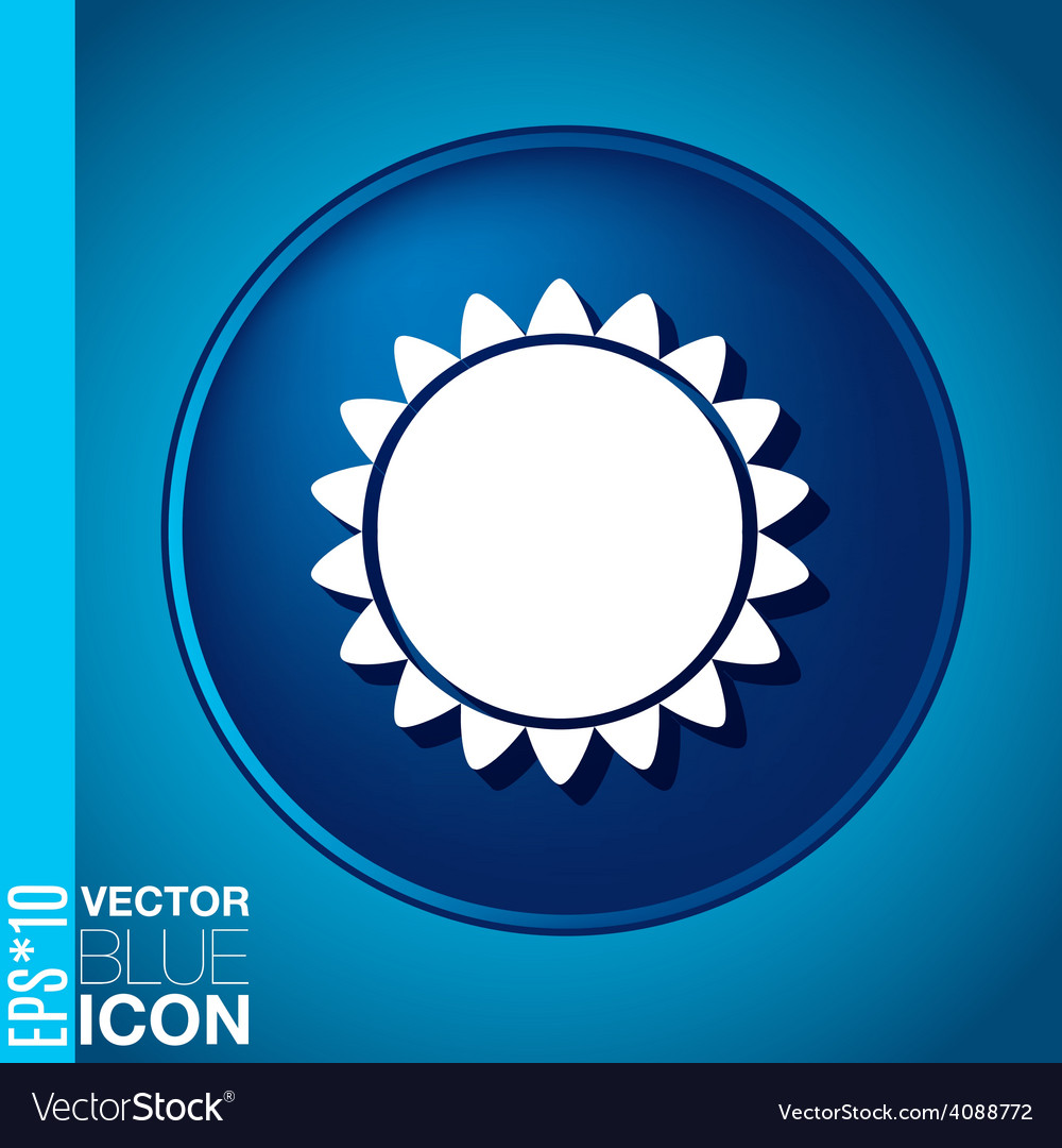 Sun the weather icon vector | Price: 1 Credit (USD $1)