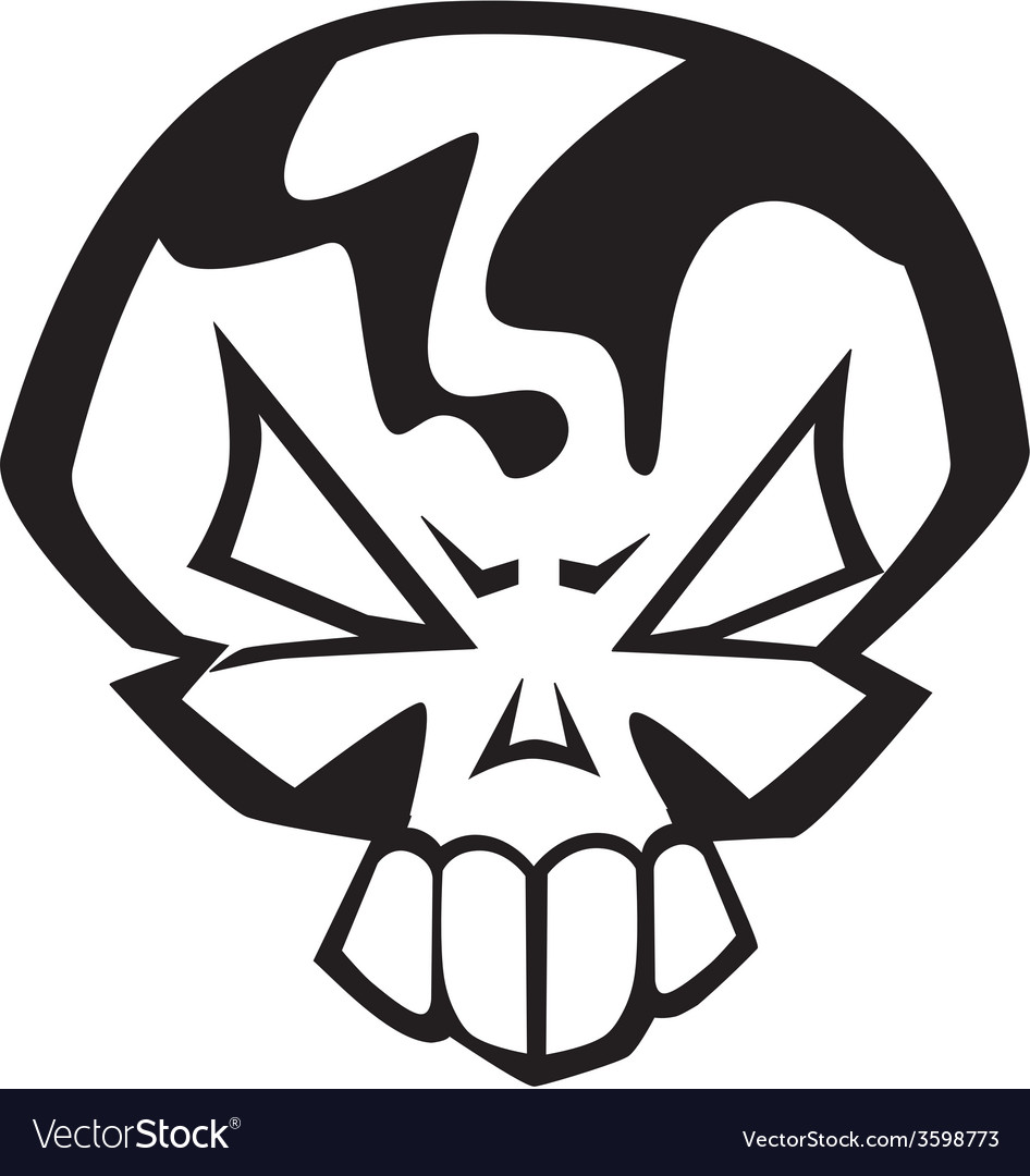 Angry skull vector | Price: 1 Credit (USD $1)