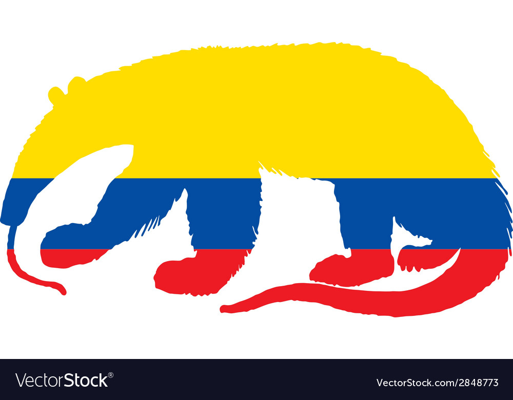 Anteater ecuador vector | Price: 1 Credit (USD $1)