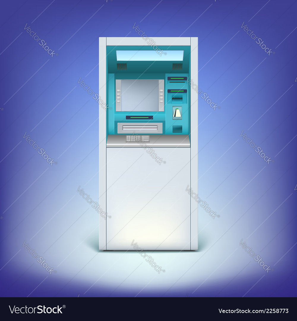 Atm isolated on background vector | Price: 1 Credit (USD $1)