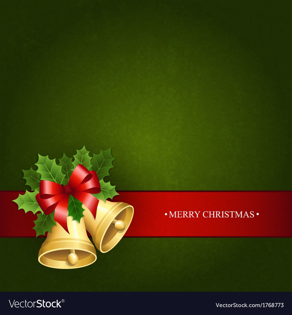 Beautiful background with the christmas bells vector | Price: 1 Credit (USD $1)