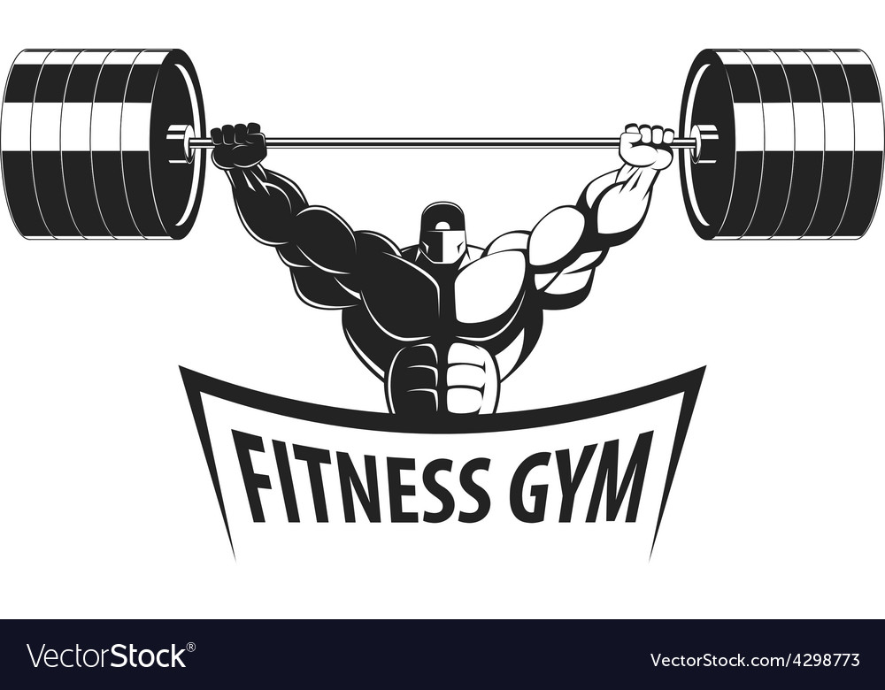 Bodybuilder with a barbell vector | Price: 1 Credit (USD $1)