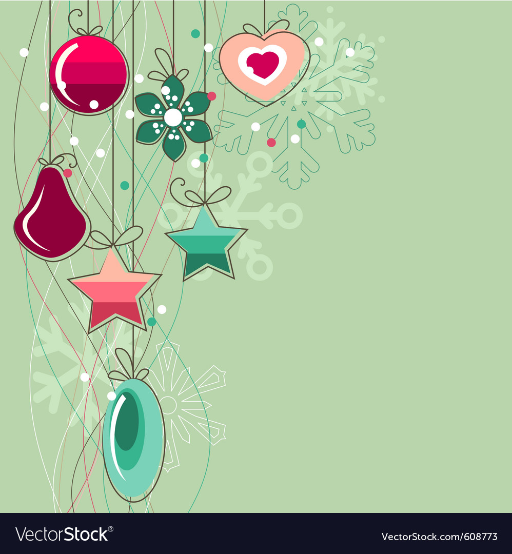 Christmas background with stylized contour balls vector | Price: 1 Credit (USD $1)