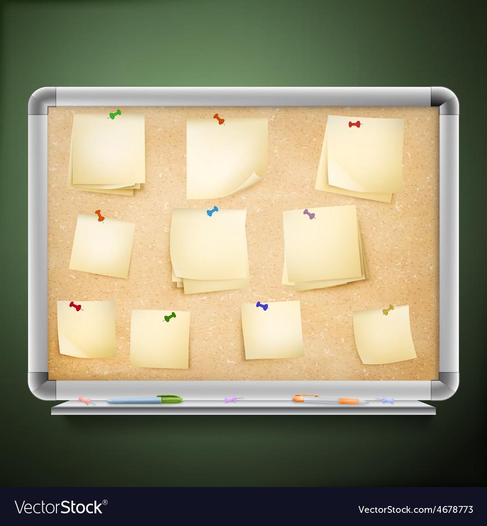 Cork message board eps 10 vector | Price: 3 Credit (USD $3)