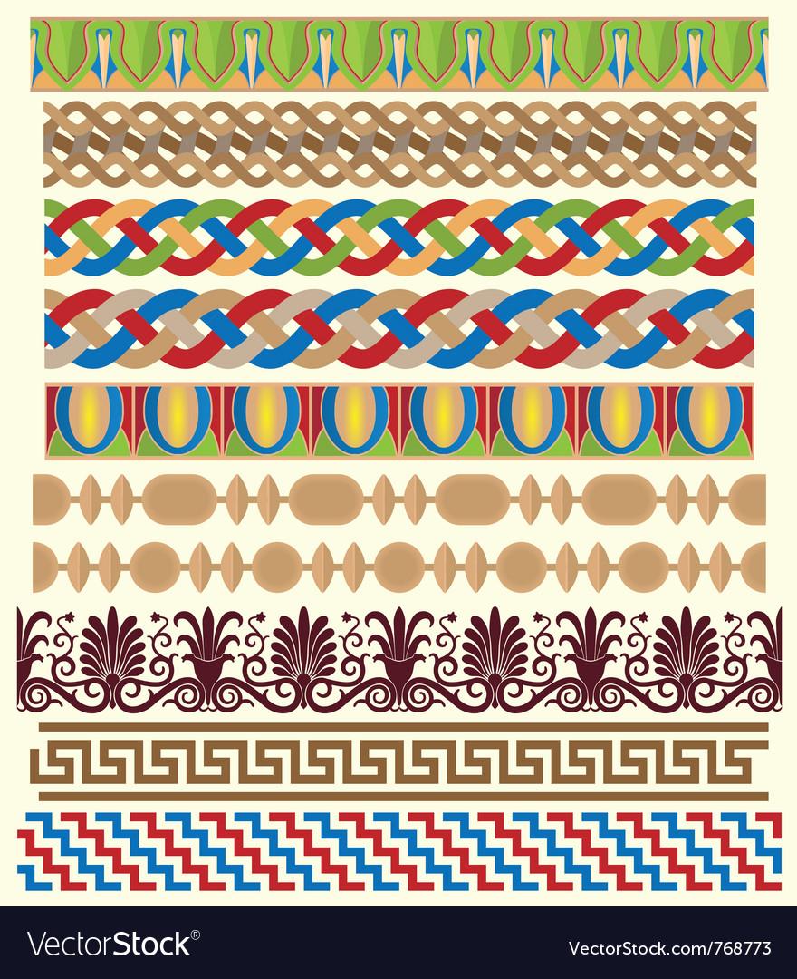 Greek architectural ornaments vector | Price: 1 Credit (USD $1)