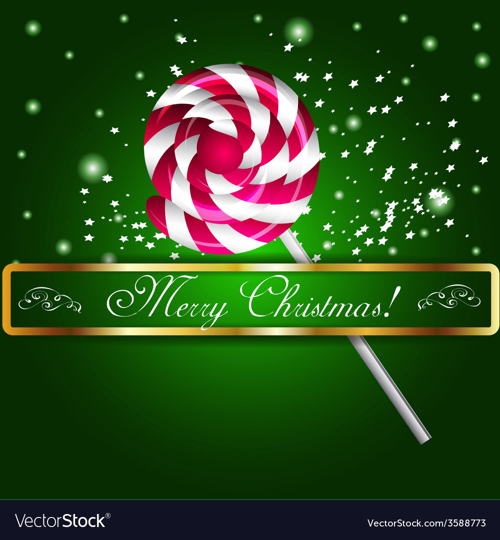 Merry christmas candy on a background vector | Price: 1 Credit (USD $1)