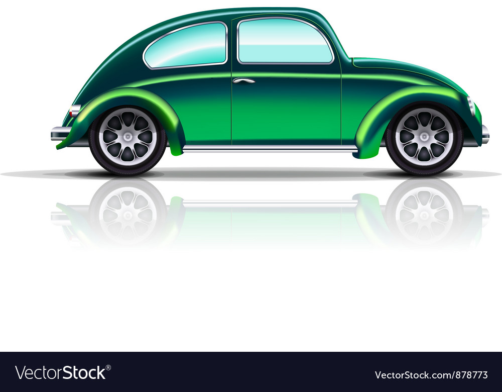 Old car beetle vector | Price: 1 Credit (USD $1)