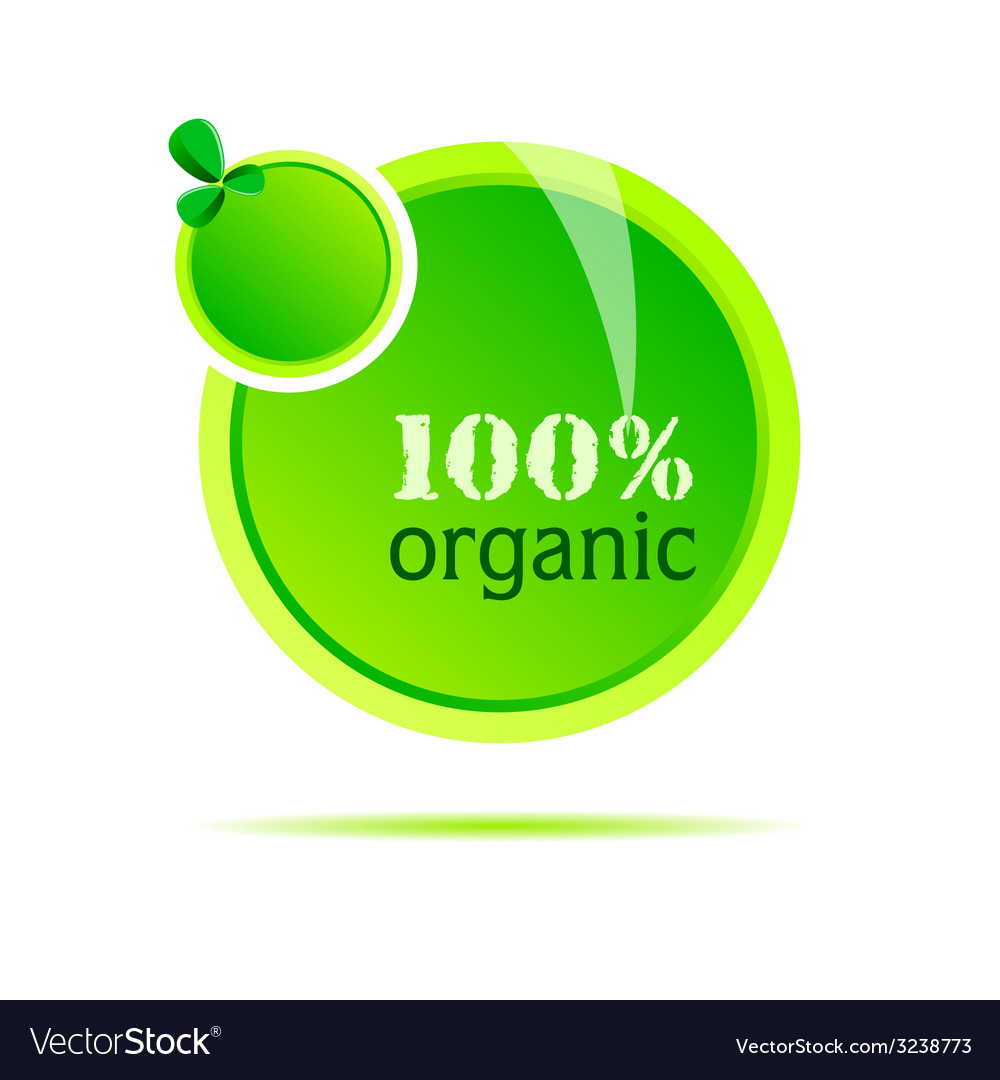 Organic green nature vector | Price: 1 Credit (USD $1)