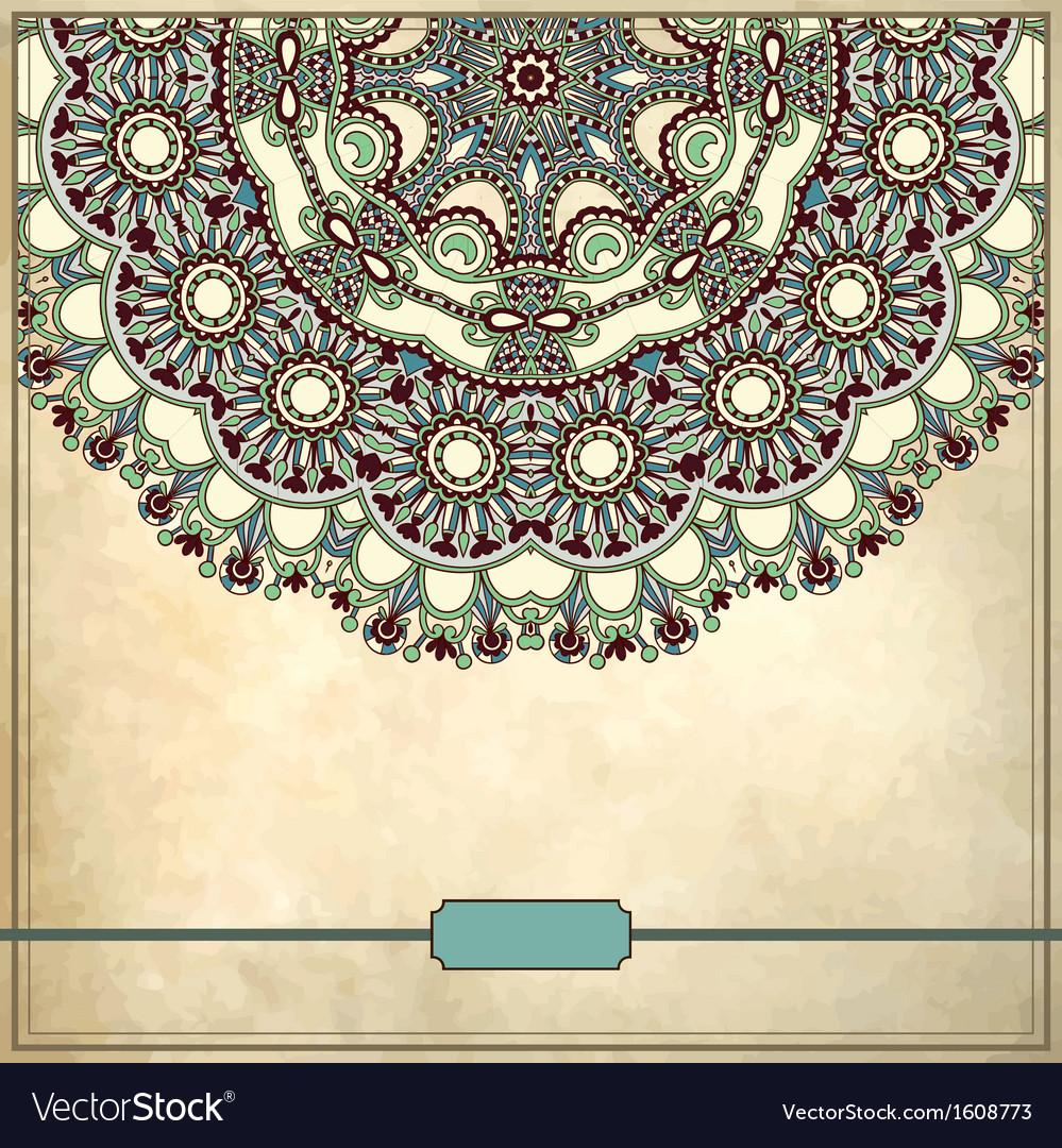 Ornamental circle floral pattern vector | Price: 1 Credit (USD $1)