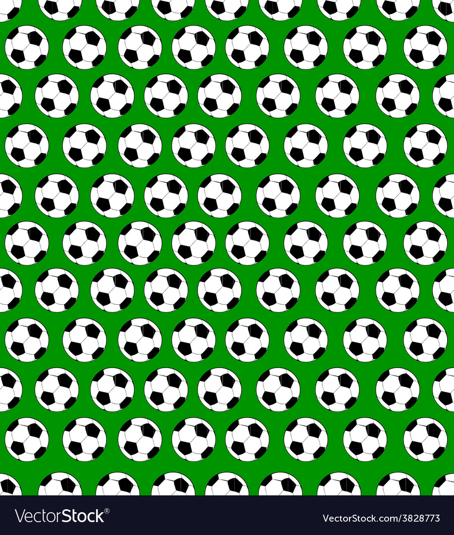 Seamless soccer ball pattern vector   Price: 1 Credit (USD $1)