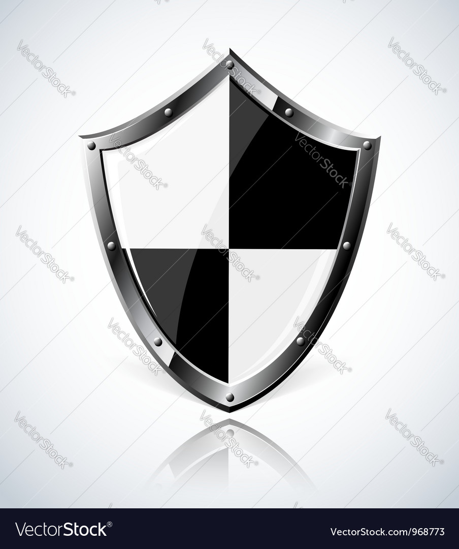 Silver shield with reflection vector | Price: 1 Credit (USD $1)