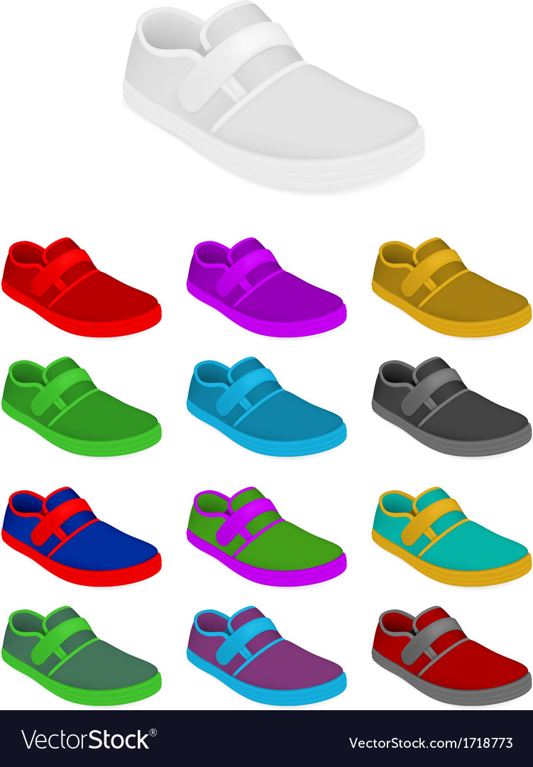 Sneakers set template vector | Price: 1 Credit (USD $1)