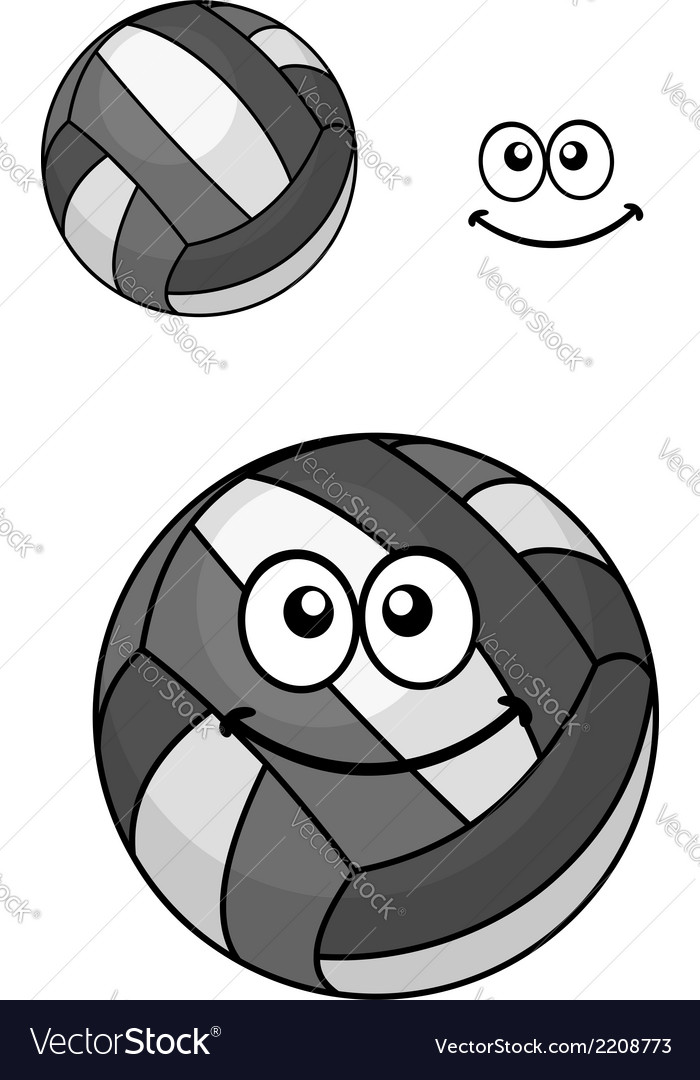 Two volleyball balls vector | Price: 1 Credit (USD $1)