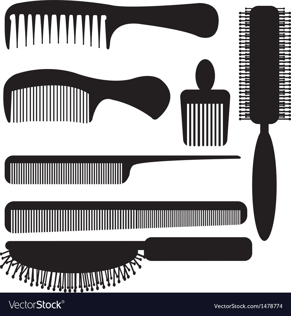 Comb silhouette vector | Price: 1 Credit (USD $1)