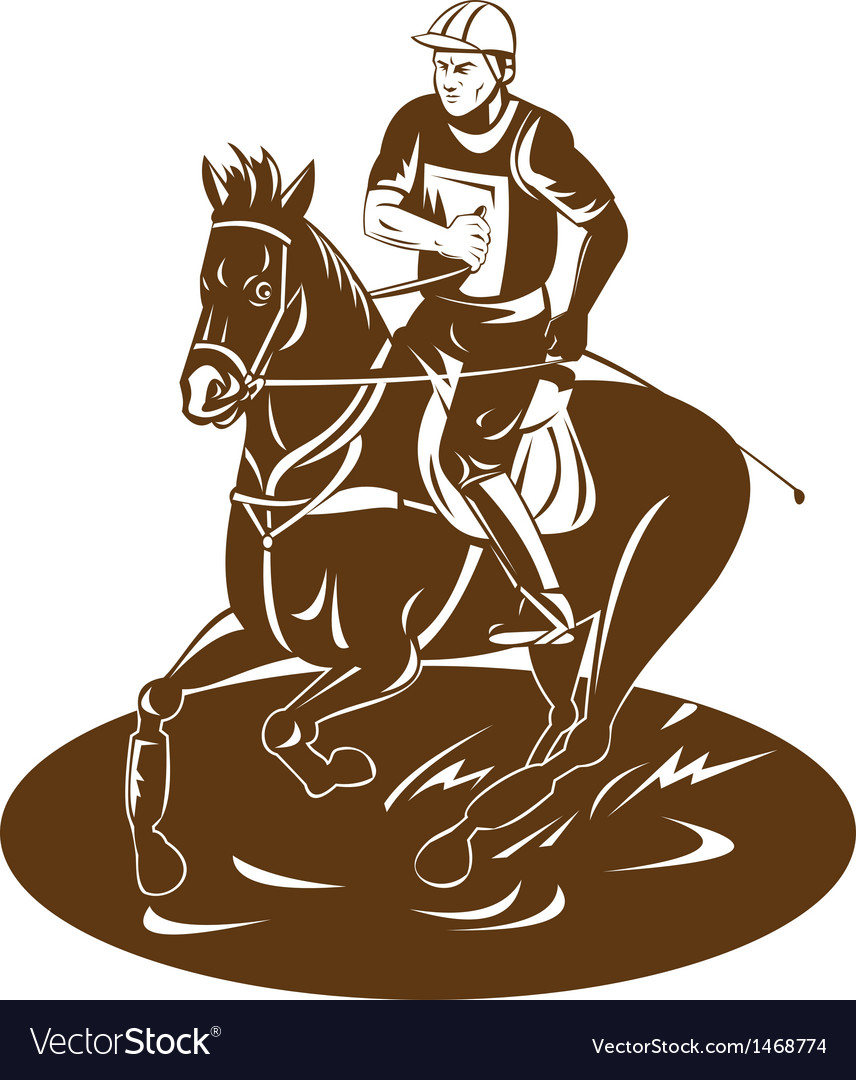 Equestrian riding horse vector | Price: 1 Credit (USD $1)