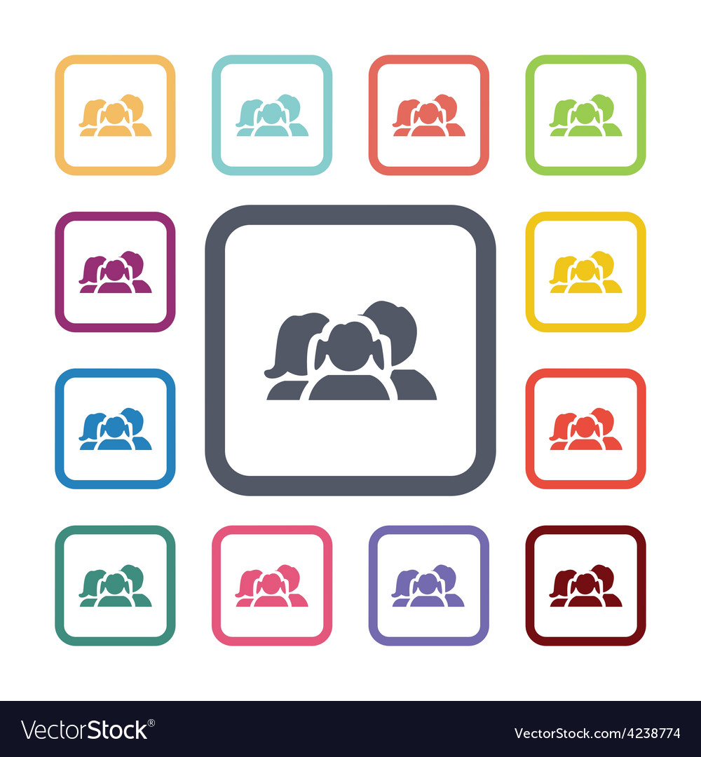 Family flat icons set vector   Price: 1 Credit (USD $1)